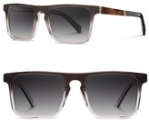 Shwood Men's 'Govy 2' 53Mm Sunglasses - Fog/ Elm Burl/ Grey