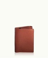 GiGi New York Tri-Fold Wallet Brown Vachetta Leather