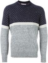 Brunello Cucinelli colour block jumper