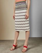 Ted Baker Aztec Knitted Midi Skirt