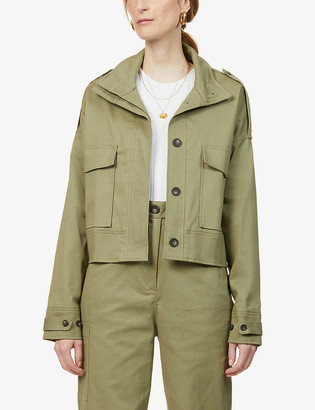 The Range Structured Military boxy-fit stretch-cotton jacket