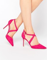 Carvela Kross Cross Strap Point Heeled Shoes