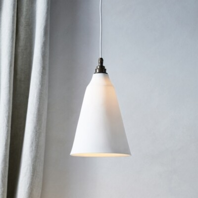 The White Company Audley Conical Ceiling Light, White, One Size