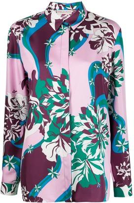 Emilio Pucci Abstract Print Silk Shirt