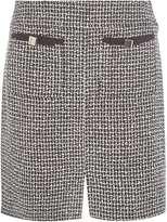 Dorothy Perkins Black Boucle Bow Pocket Skirt