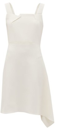 Roland Mouret Caracalla Asymmetric-hem Cady-crepe Dress - White