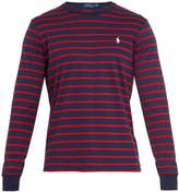 Polo Ralph Lauren Logo-embroidered striped cotton-jersey top