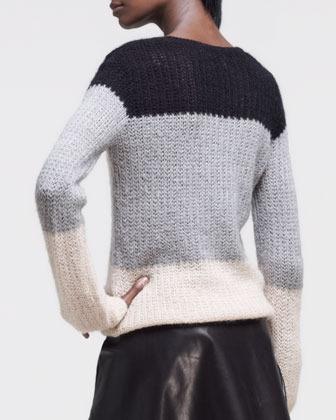 Derek Lam 10 Crosby Colorblock Crewneck Sweater