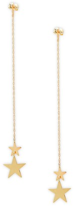 Saks Fifth Avenue 14K Yellow Gold Star Thread Earrings
