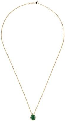 Boucheron 18kt yellow gold Serpent Boheme malachite S motif teardrop pendant necklace