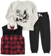 Kids Headquarters 3-Pc. Plaid Vest, T-Shirt & Pants Set, Baby Boys (0-24 months)