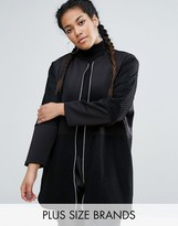 One One Three Longline Shacket With Mesh Insert