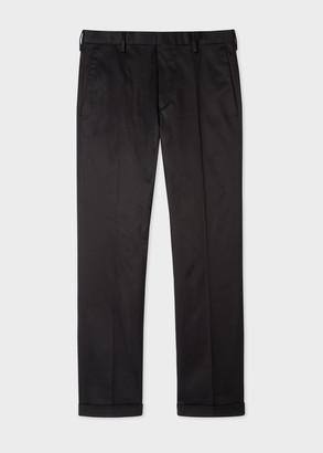 Paul Smith Men's Slim-Fit Black Stretch-Cotton Chinos