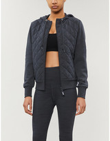 Lorna Jane Quilted jersey lounge hoody