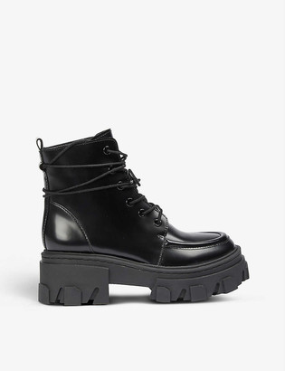 The Kooples Platform leather ankle boots