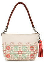 The Sak Indio Floral Demi Small Tasseled Hobo Bag