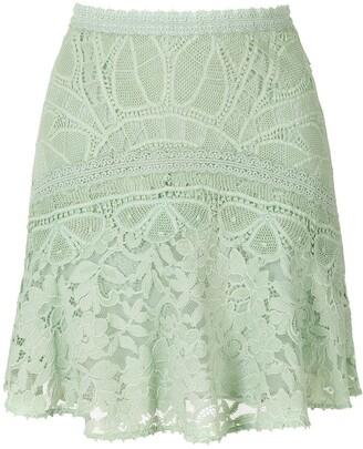 Martha Medeiros Rosalia Lace Mini-Skirt