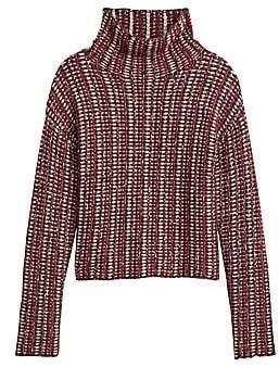 Theory Women's Inlay Striped Alpaca-Blend Turtleneck Sweater