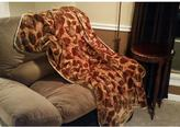 Cloud Touch Brown Polyester Patterned Throw