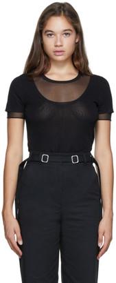 Proenza Schouler Black Layered Short Sleeve T-Shirt