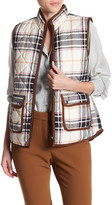 Foxcroft Sleeveless Plaid Herringbone Vest