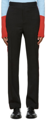 Wales Bonner Black and Red Dub Trousers