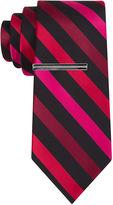 Jf J.Ferrar JF Patterson Stripe Tie with Tie Bar - Slim
