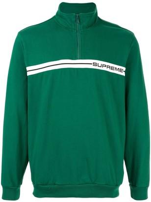 Supreme Half Zip Fleece Sweatshirt