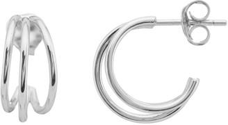 Auree Jewellery Cordoba Triple Stirling Silver Hoop Earrings