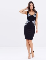 Lipsy Embroidered Side Placement Bodycon Dress