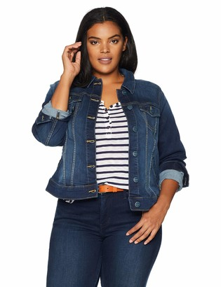 SLINK Jeans Women's Plus Size Denim Jacket