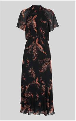 Whistles Rose Paisley Leaf Dress
