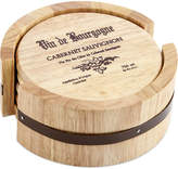 Thirstystone Set of 4 Wine Cask Coasters with Holder