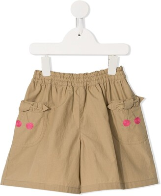 Familiar Cherry Embroidered Shorts
