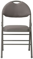 Cosco Home And Office Commercial Fabric Padded Folding Chair Home and Office Color: Taupe