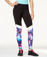 Material Girl Active Juniors' Printed Colorblocked Yoga Leggings, Only at Macy's