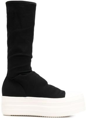 Rick Owens Platform Sole Sock Boots
