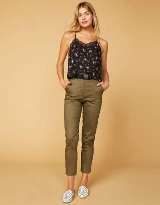 West Of Melrose Buckle Up Belted Womens Pants