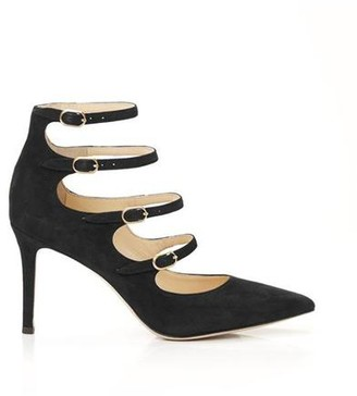 Marion Parke Mitchell | Suede Strappy Mary Jane Stiletto Pump