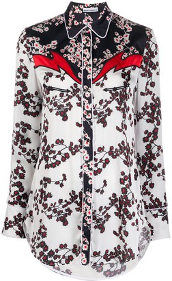 Paco Rabanne Floral Panelled Shirt
