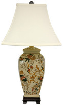 "Oriental Furniture 25"" Autumn Birds and Flowers Vase Lamp"