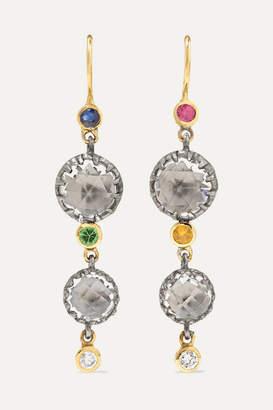 Larkspur & Hawk Sadie 14-karat Gold And Rhodium-dipped Multi-stone Earrings