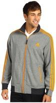 adidas Ultimate Track Jacket (Dark Shale Heather/Bright Gold) - Apparel