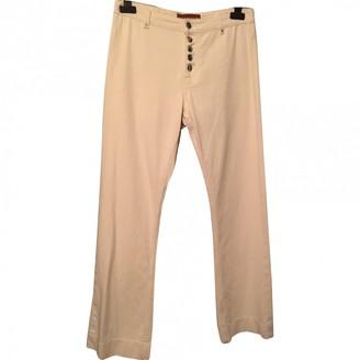 ALEXACHUNG Alexa Chung White Cotton Jeans for Women