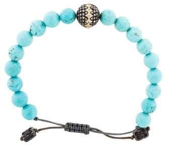 Armenta Old World Pave Diamond Magnasite Bead Bracelet
