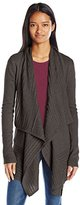 Amy Byer A. Byer Juniors Open Front Cable Knit Cardigan Sweater