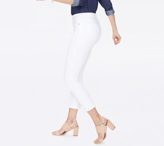 NYDJ Sheri Slim Ankle Jeans with Side Slits - Optic White