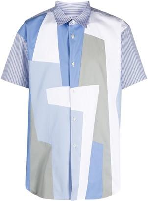 Comme des Garçons Shirt Colour-Block Print Shirt