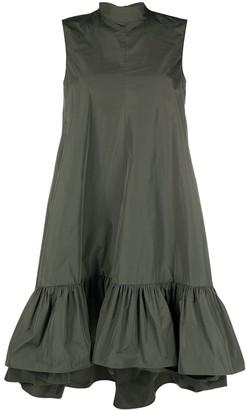 RED Valentino Bow-Detail Peplum-Hem Dress
