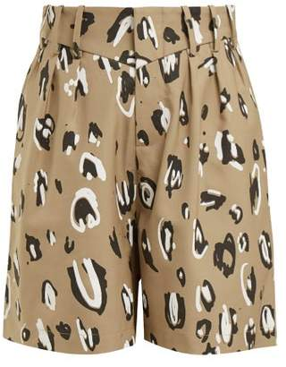 Charles Jeffrey Loverboy Leopard Print High Rise Shorts - Womens - Leopard